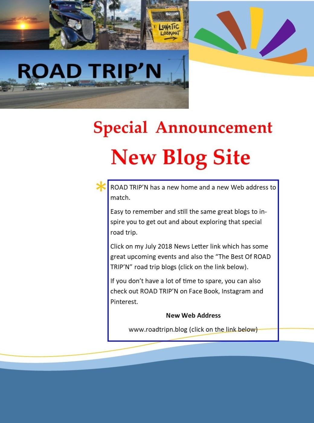 New Blog Site - ROAD TRIP'N