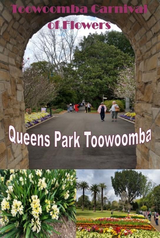 Entering Queens Park Botanical Gardens