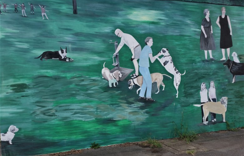 Doggy Mural in the Car Park