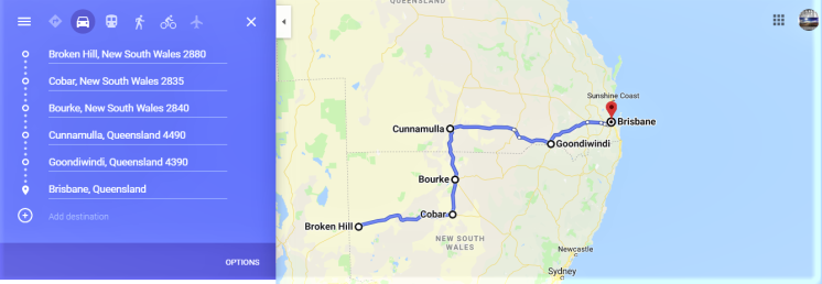 Broken Hill to Brisbane
