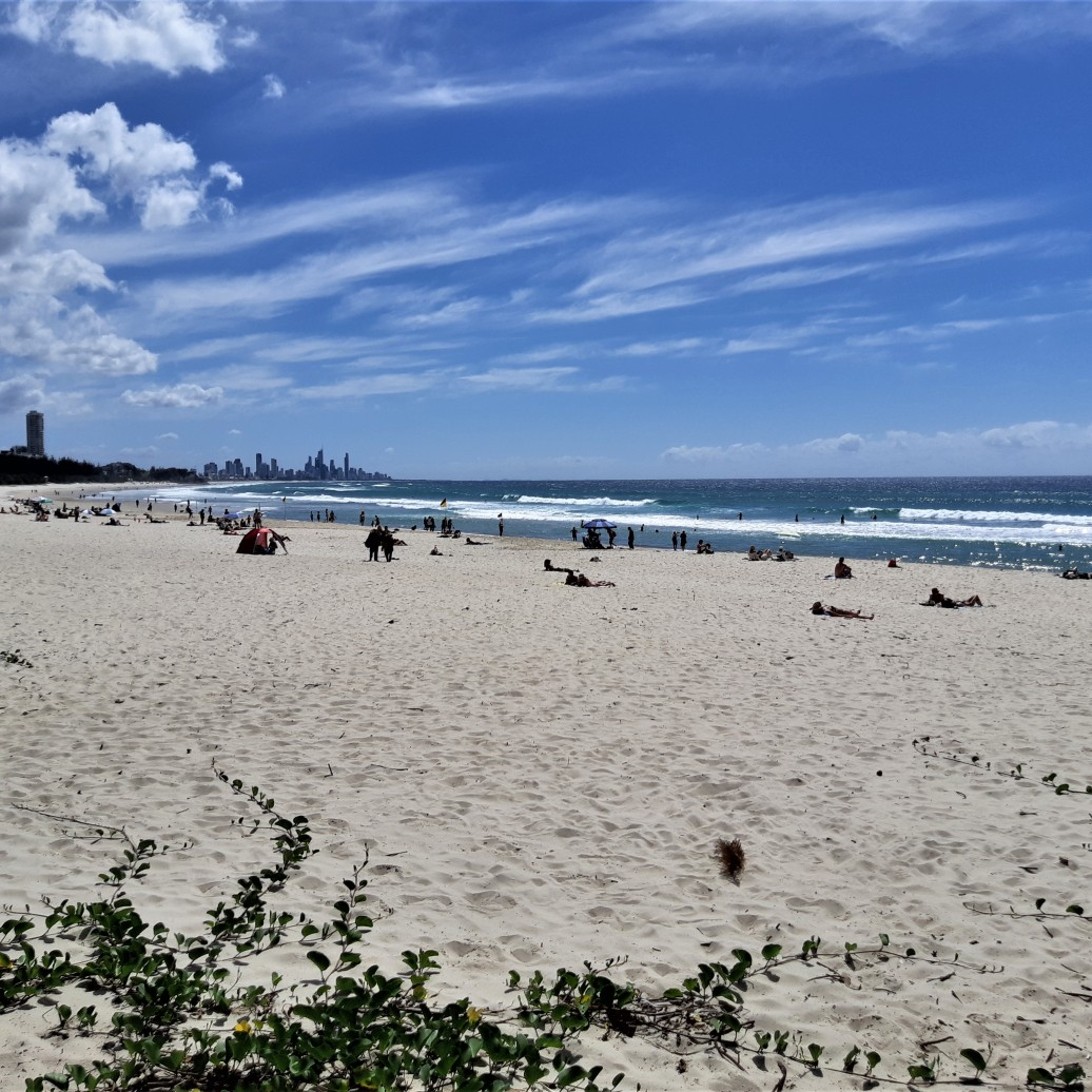 Burleigh Beach Views to Surfers Paradise