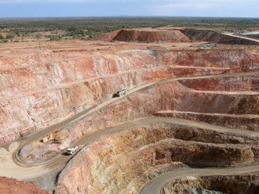 The New Cobar Open Cut Gold Mine from Fort Bourke Lookout