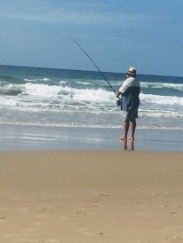 Surf Fishing on Marcoola Beach