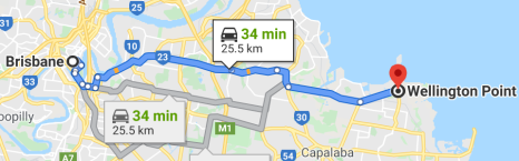 Brisbane to Wellington Point