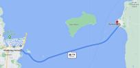 Cleveland to North Stradbroke Island