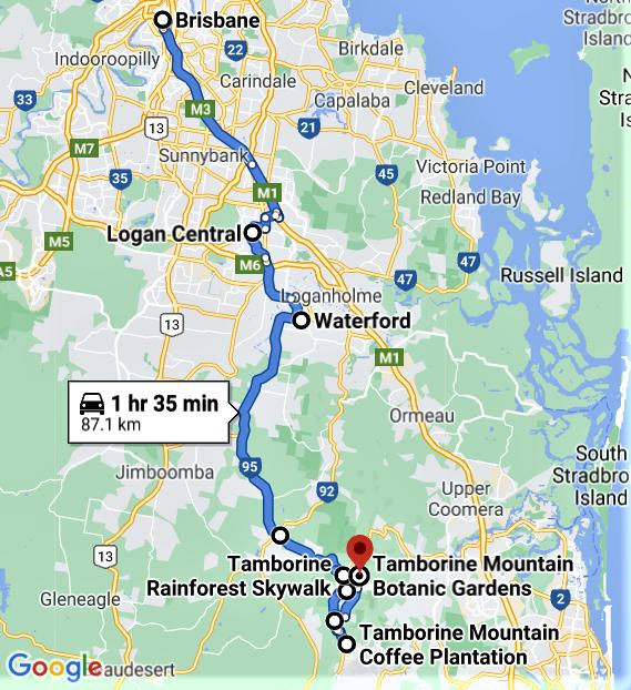 Brisbane to Tamborine Mountain